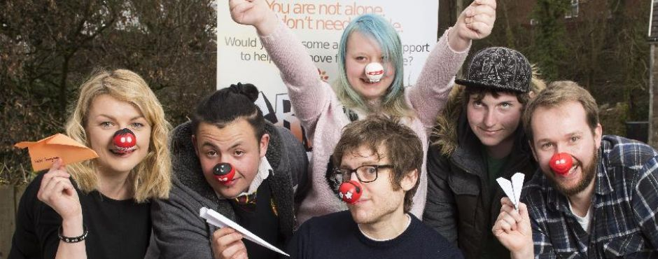Comedian Elis James and SMT CREA8 celebrate Comic Relief